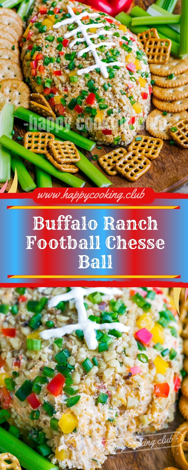 Buffalo Ranch Football Chesse Ball