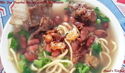 Resep mie sup brenebon (kacang merah)