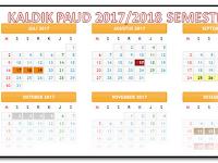 Kaldik Kalender Pendidikan PAUD TK-KB 2017/2018
