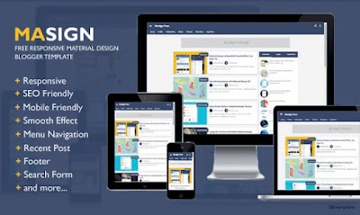 Masign Free Responsive Blogger Templates