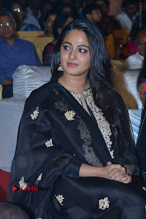 Actress Anushka Anushka Shetty Stills in Black Salwar Kameez at Om Namo Venkatesaya Audio Launch Event  0011.JPG