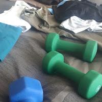 Douillette de lit, poids libres d'entraînement, vêtements à plier