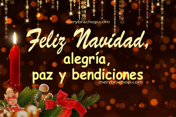 bonita frases de navidad cristiana imagen navideña para familia amigos por Mery Bracho