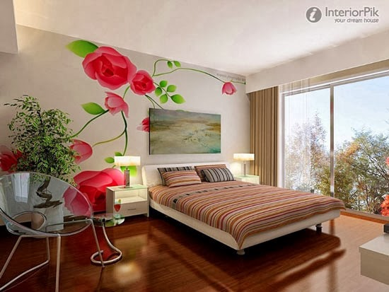 Lighter bedroom colours create the illusion of more space