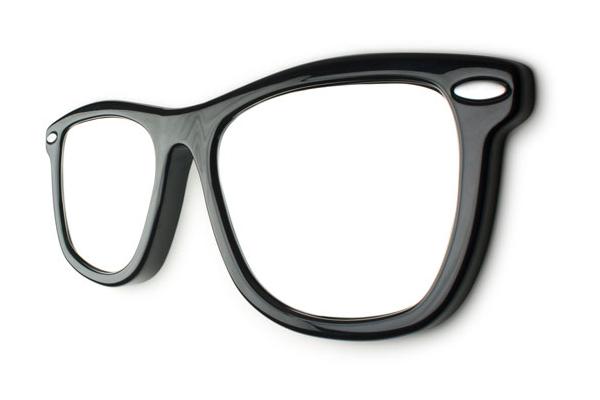 Diseño de espejo con forma de lentes