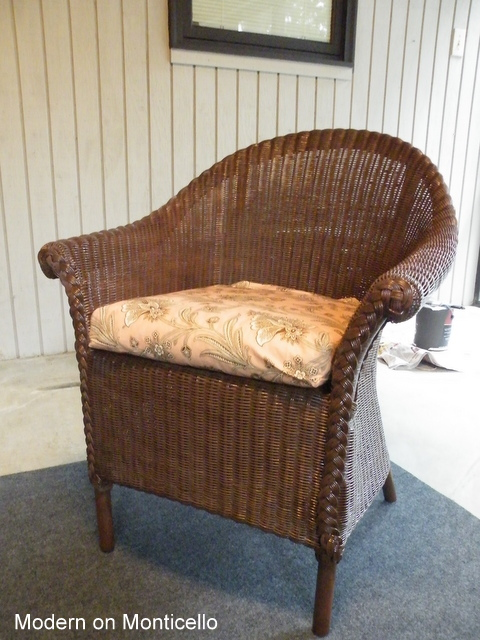 Wicker Chair Made Over With Paint, How To Paint Wicker Furniture Brown