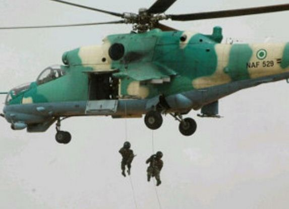 Helicopter Loaded With Dangerous Weapons Lands In Taraba State