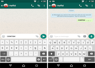 merubah huruf tebal di whatsapp