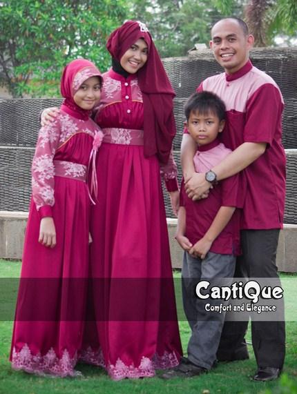 Koleksi Terbaru Baju Muslim Couple Modern Keluarga Untuk Pesta