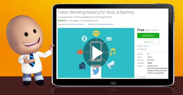 [100% Off] Twitter Marketing Mastery For Music & Business| Worth 100$