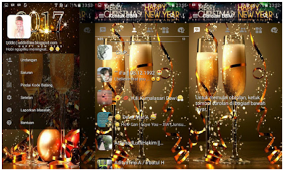 Download BBM Mod Special Happy New Year Tahun Baru 2017 Apk