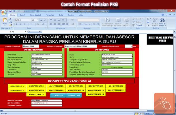 Contoh Format Penilaian PKG
