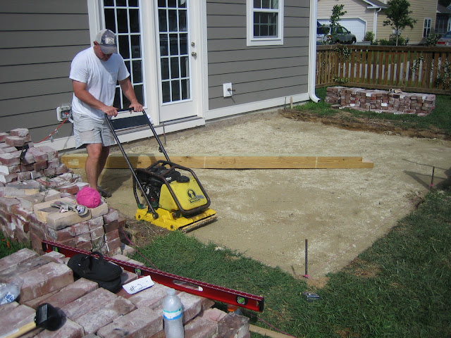 Replacing concrete patio with brick for a cottage look and feel | The Lowcountry Lady