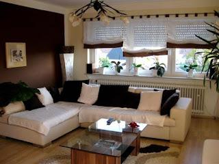 Sala color marrón chocolate crema