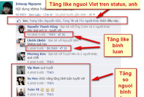 một số bài viết seending trên facebook