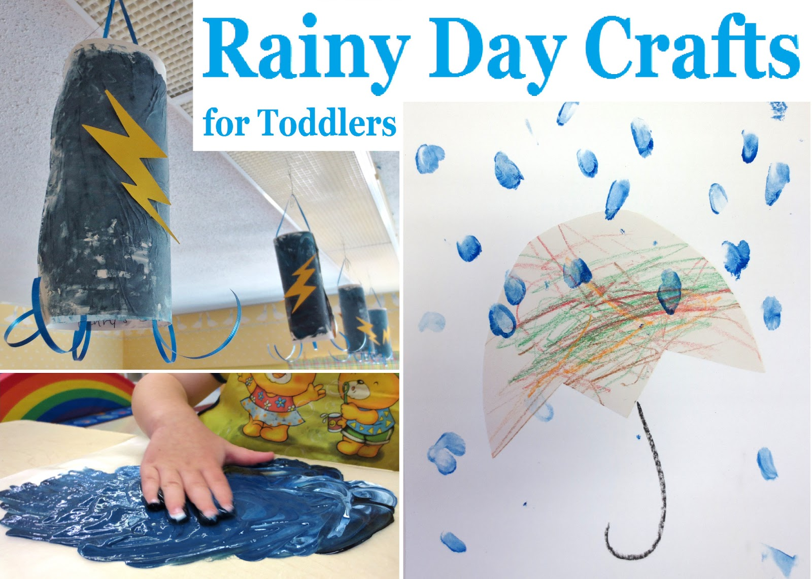 Rainy Day Crafts For Toddlers on Preschool Fingerpaint