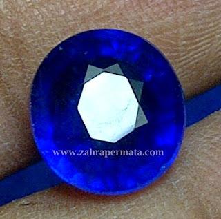 Batu Permata Royal Blue Saphire + Memo - ZP 401