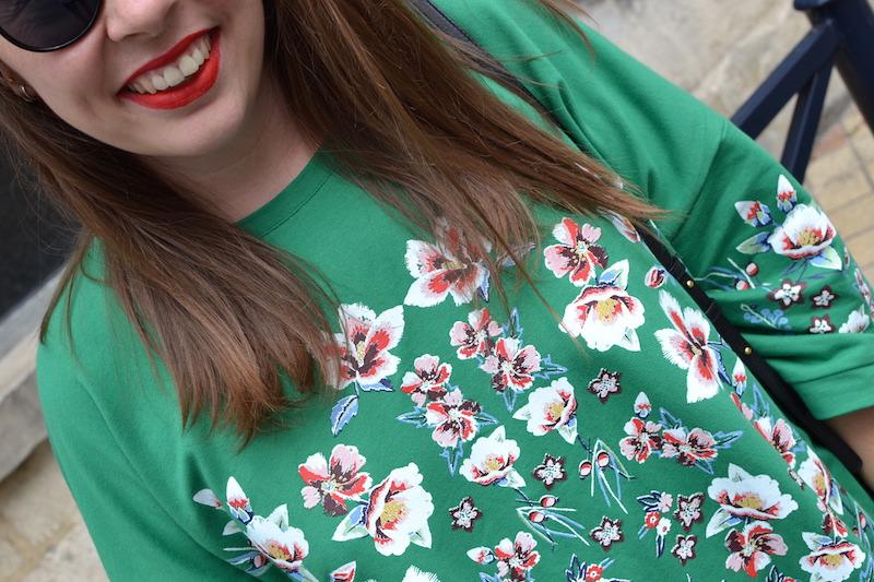 robe à fleur verte Zara
