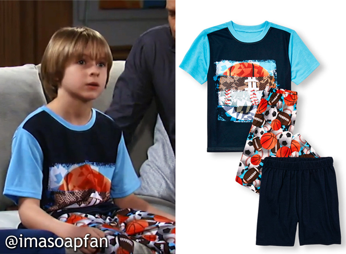 Jake Spencer, Hudson West, Sport Ball Pajamas, GH, General Hospital