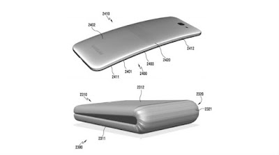 samsung bend able foldable smart phone