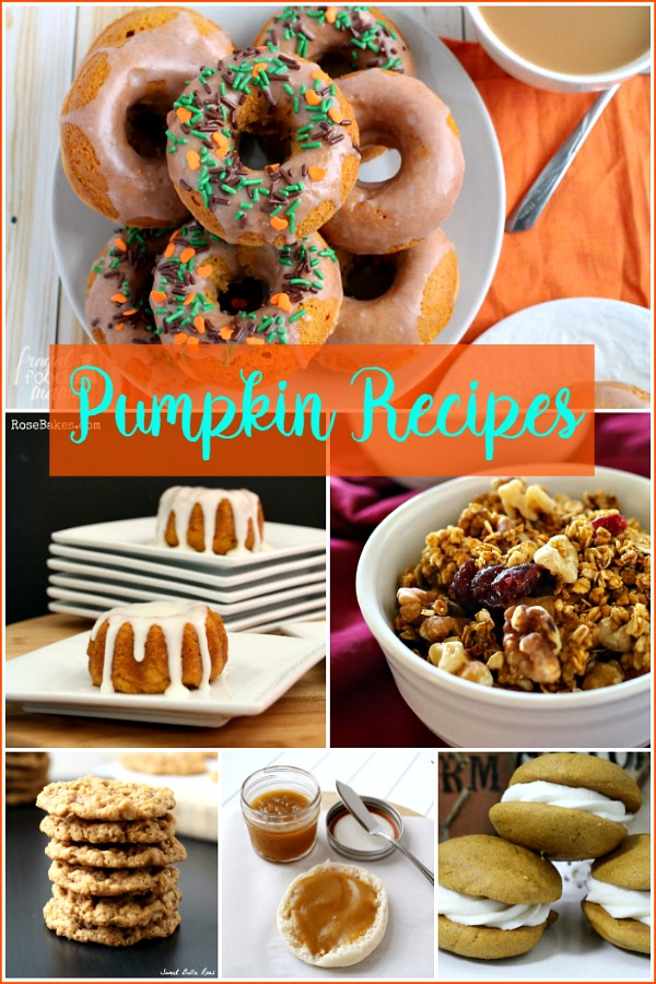 Pumpkin Recipes featured on Walking on Sunshine Recipes.
