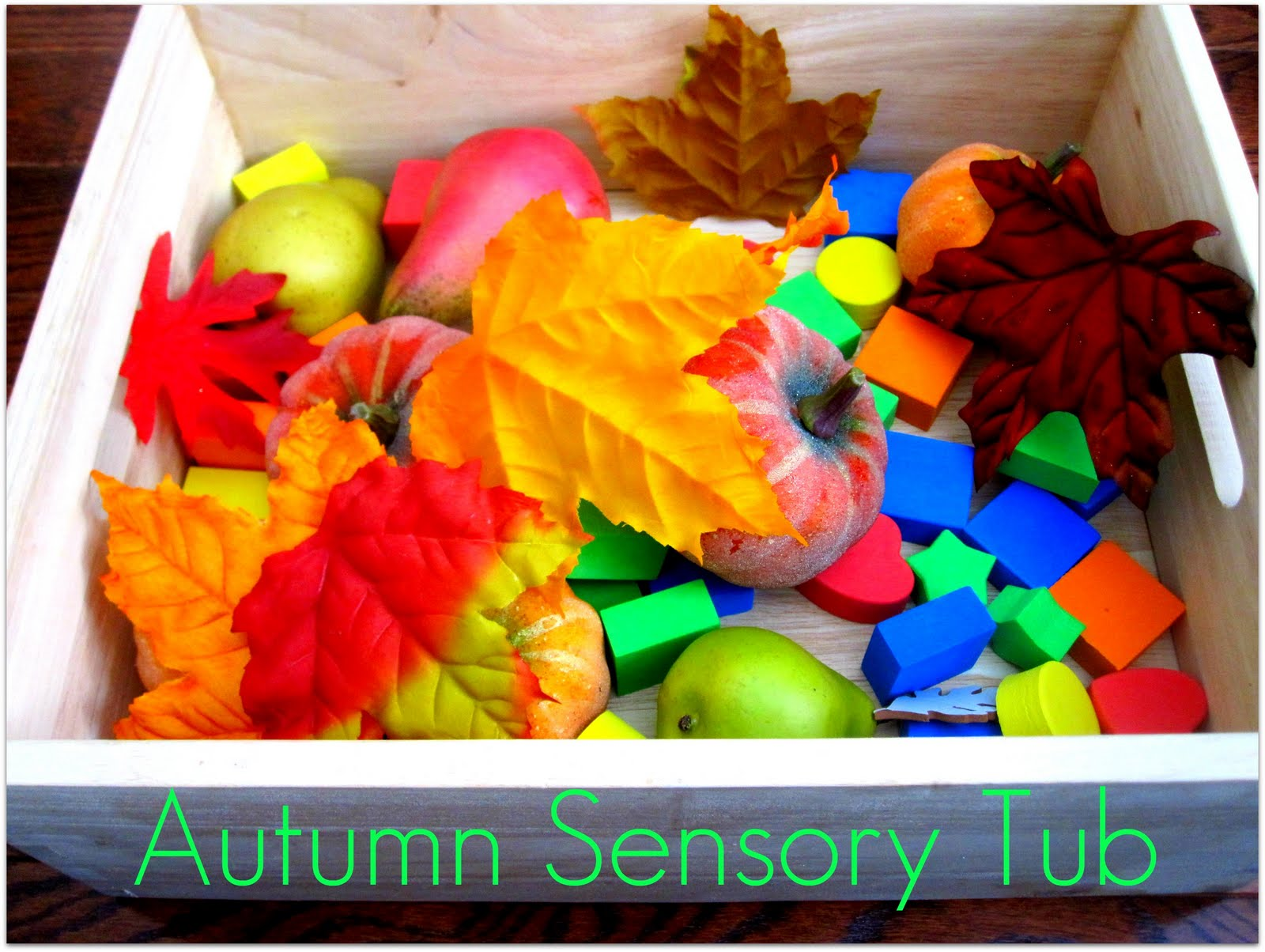 Toddler Approved Baby Playtime Autumn Sensory Tub