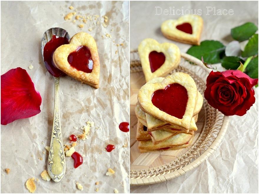 Walentynkowe serca z truskawkami