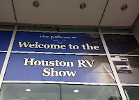 sign reading welcome to the Houston RV show
