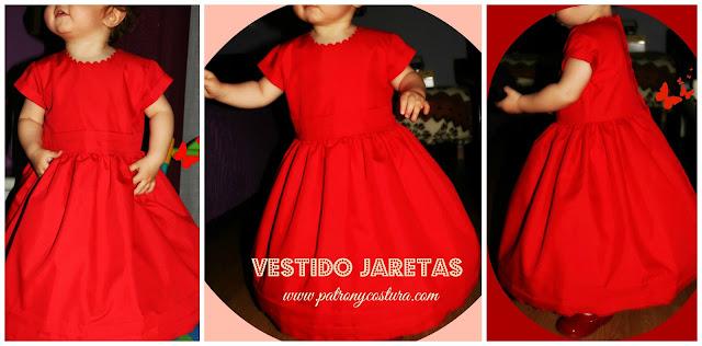 www.patronycostura.com/vestido jaretas con manga