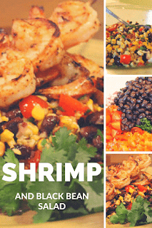 Southwest Shrimp with Grilled Corn and Black Bean Salad