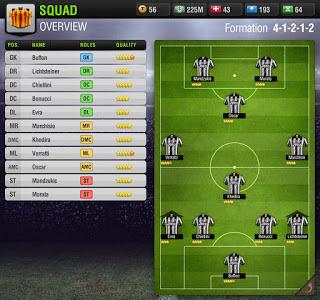 Formasi Terkuat ala Juventus di Top Eleven
