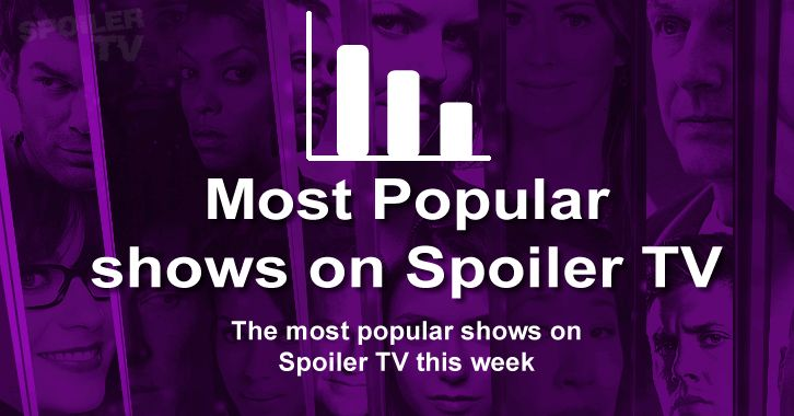 Most Popular Shows on SpoilerTV - w/e 29th August 2014