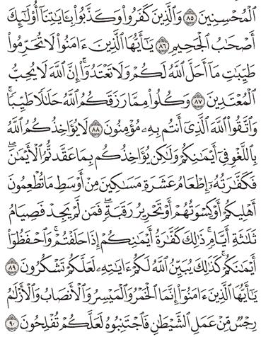 Tafsir Surat Al-Maidah Ayat 86, 87, 88, 89, 90
