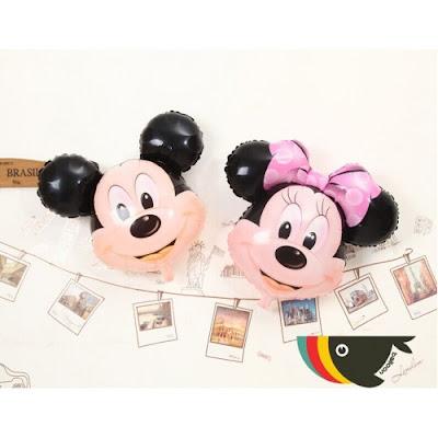 Balon Foil Karakter Kepala Mickey Minnie