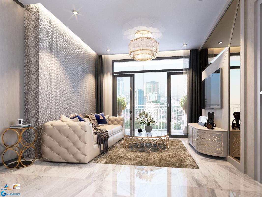 Độ cao tầng là 3m nên khách hàng có nhiều phương án thiết kế phòng khách sang trọng
