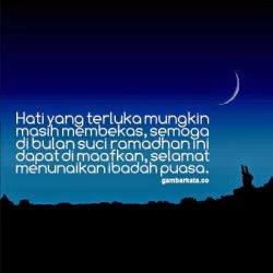 Hati yang terluka mungkin masih membekas, semoga di bulan suci ramadhan ini dapat di maafkan, selamat menunaikan ibadah puasa.