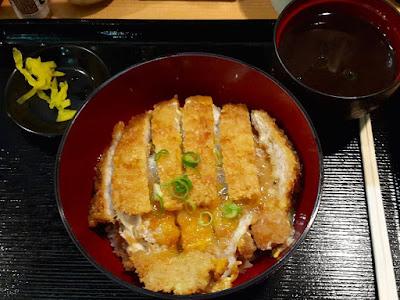 Pork Katsudon at Kuromonya at Namba Station Japan