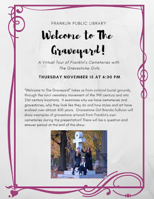 "Franklin Library: ""Welcome to the Graveyard"" - Nov 15 - 6:30 PM"