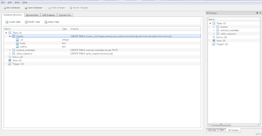 Editor de SQLite Database Browser