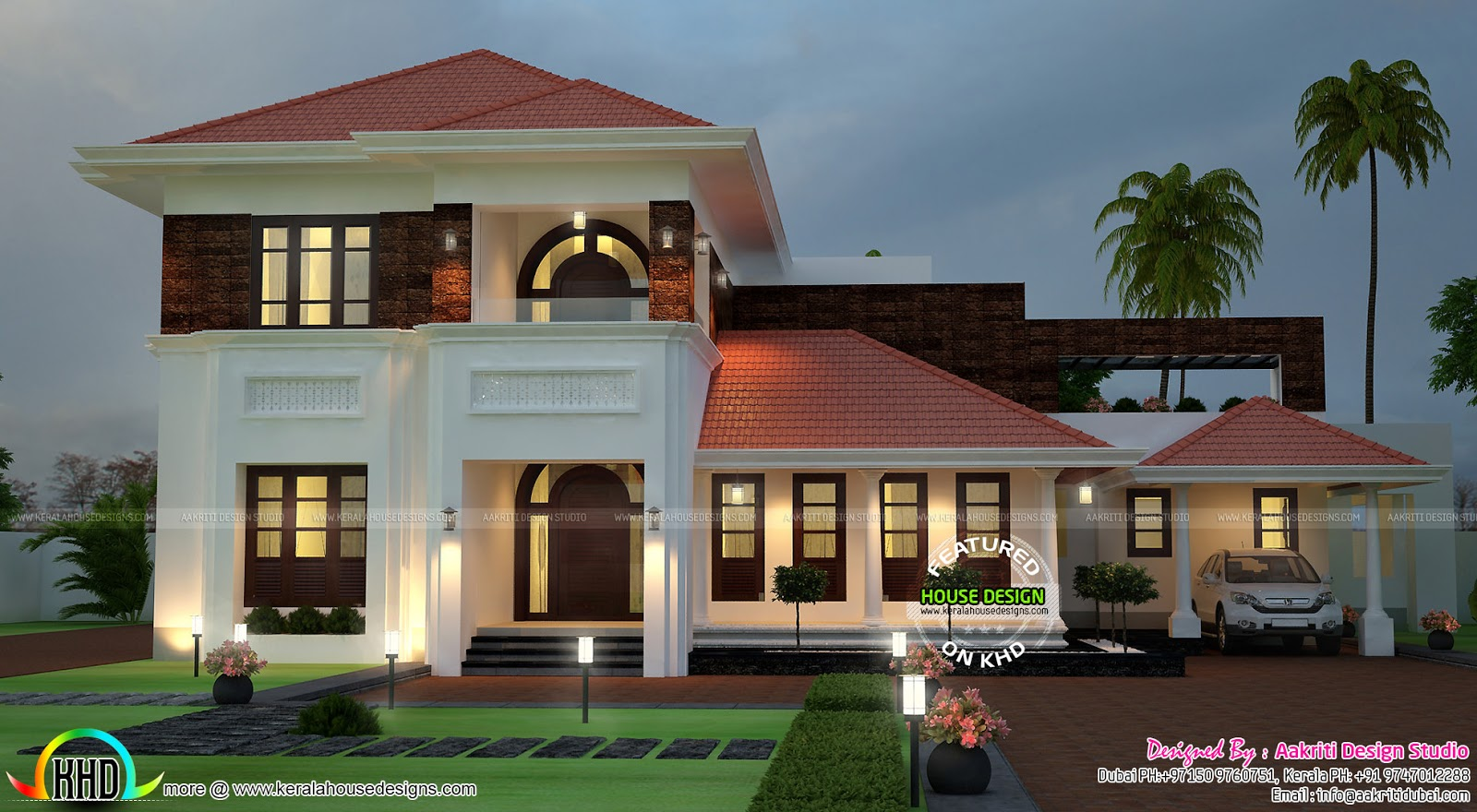 Attractive house architecture kerala home design and for Very beautiful house