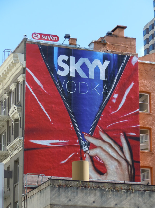 Skyy Vodka unzipped billboard