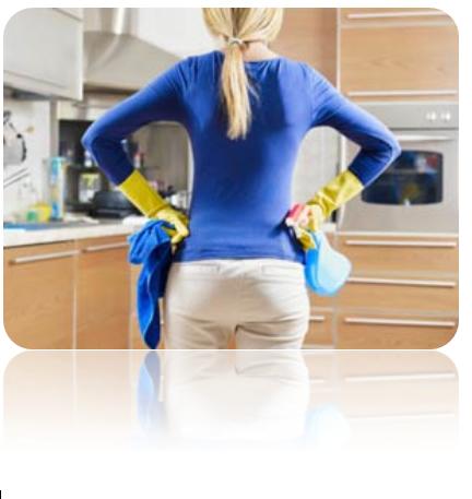 limpando a cozinha