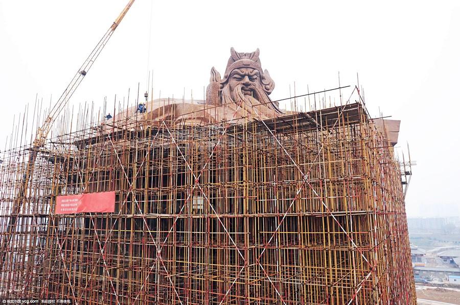 การก่อสร้างเทพเจ้ากวนอู ใหญ่ที่สุดในโลก