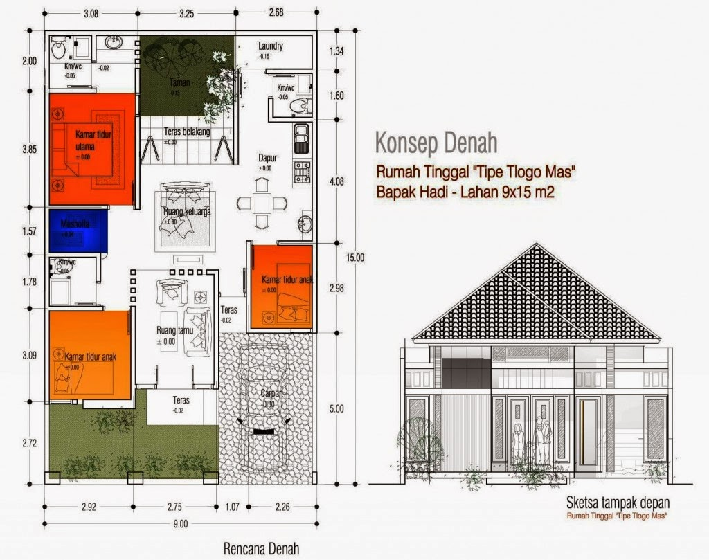 Desain Rumah Minimalis 10 X 15 Gambar Foto Desain Rumah
