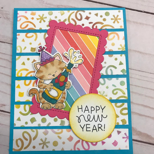 Happy New Year by Vicki features Newton's New Year, Framework, and Confetti by Newton's Nook Designs; #newtonsnook