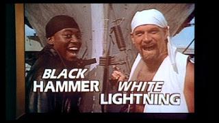 Omar Epps and Jesse Ventura in Black Hammer & White Lightning