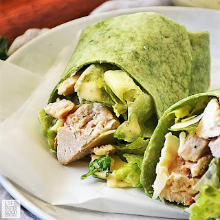 Chicken Caesar Salad Wrap by Life Tastes Good