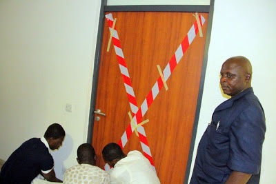 National Assembly officials seal off Hon Jibrin's office