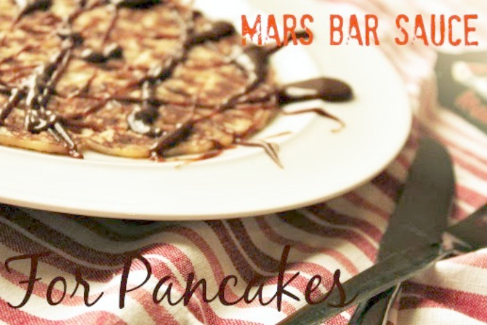 Mars Bar Sauce for Pancakes
