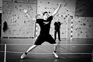 Florent Manadou jugando handball